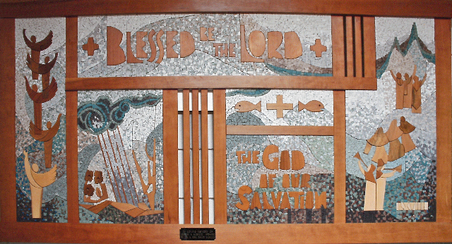 017 Wood Tile Mosaic